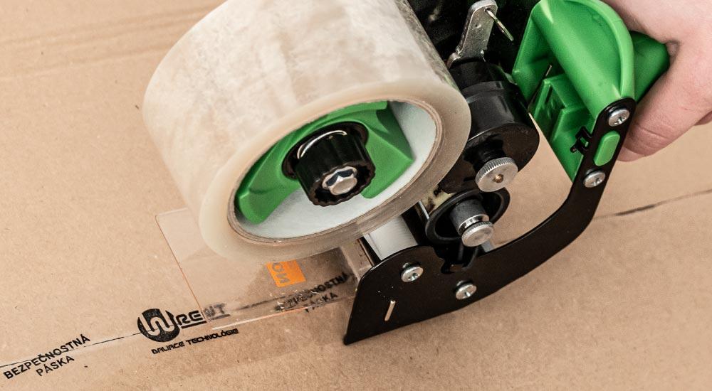 Adhesive tape dispenser PrintWiz with integrated printing