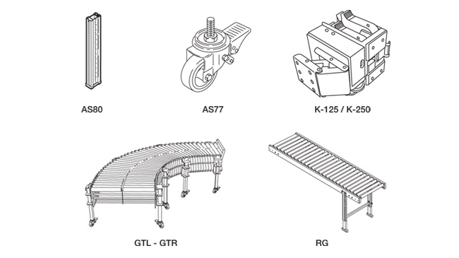 SIAT SR46 - Voliteľná konfigurácia a príslušenstvo