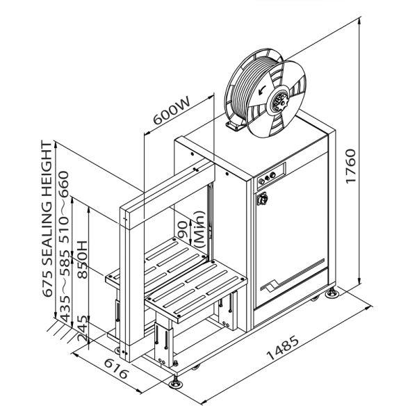 TP-601Y (technický výkres)