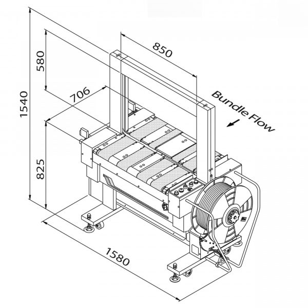 TP-601B (technický výkres)