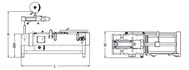 SIAT PS50T/B - Rozmery skladača kartónov