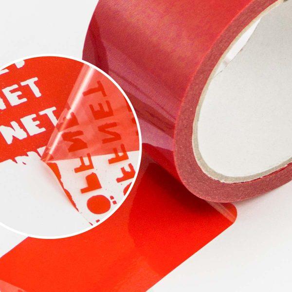 Bezpečnostná lepiaca páska s potlačou