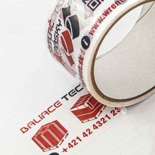 Klasická lepiaca páska s potlačou
