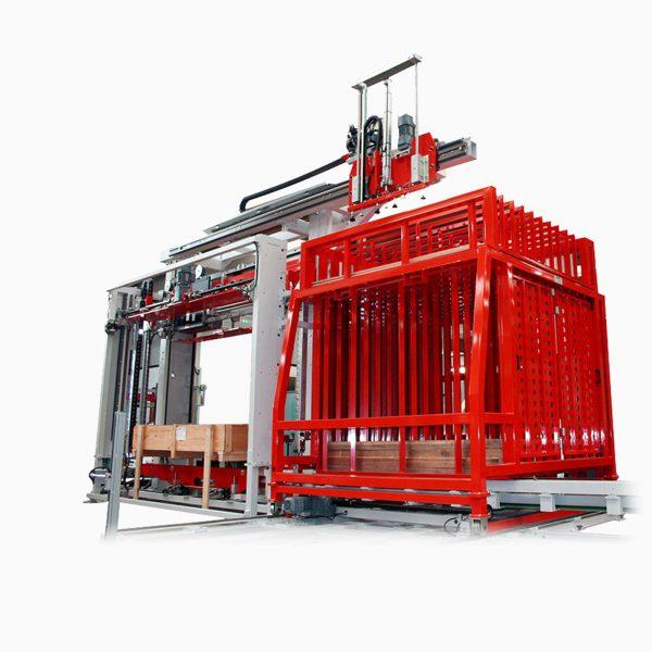 Automatický páskovací stroj OMS 078-082 s automatickým vkladaním hranolov