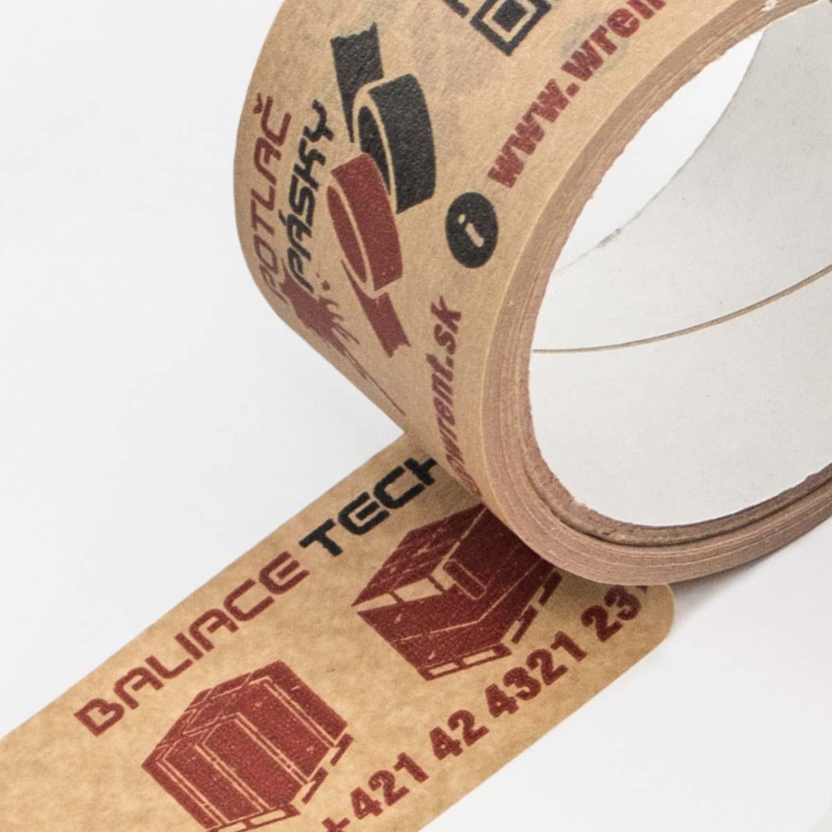 Ekologická papierová lepiaca páska s potlačou
