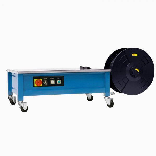 Znížený bezrámový stolný páskovací stroj Transpak TP-202L