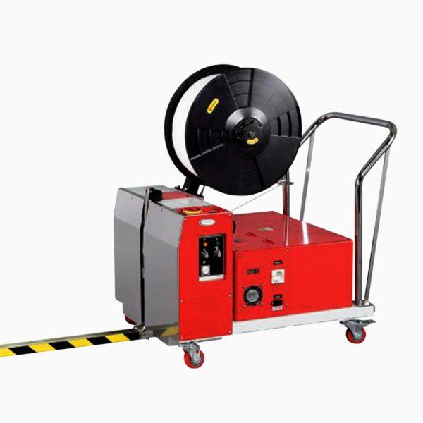 Mobilný akumulátorový páskovací stroj pre páskovanie paliet Transpak TP-502MVB