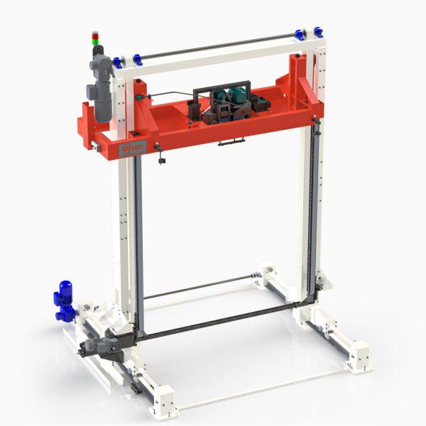 Výkonný automatický páskovací stroj pre vertikálne páskovanie