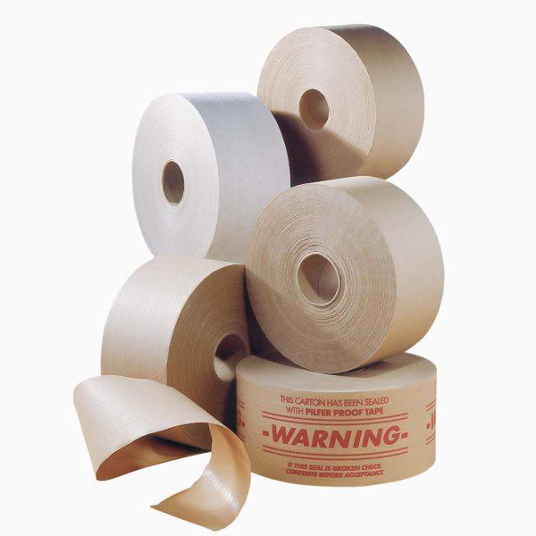 Vodou aktivovateľná papierová lepiaca páska