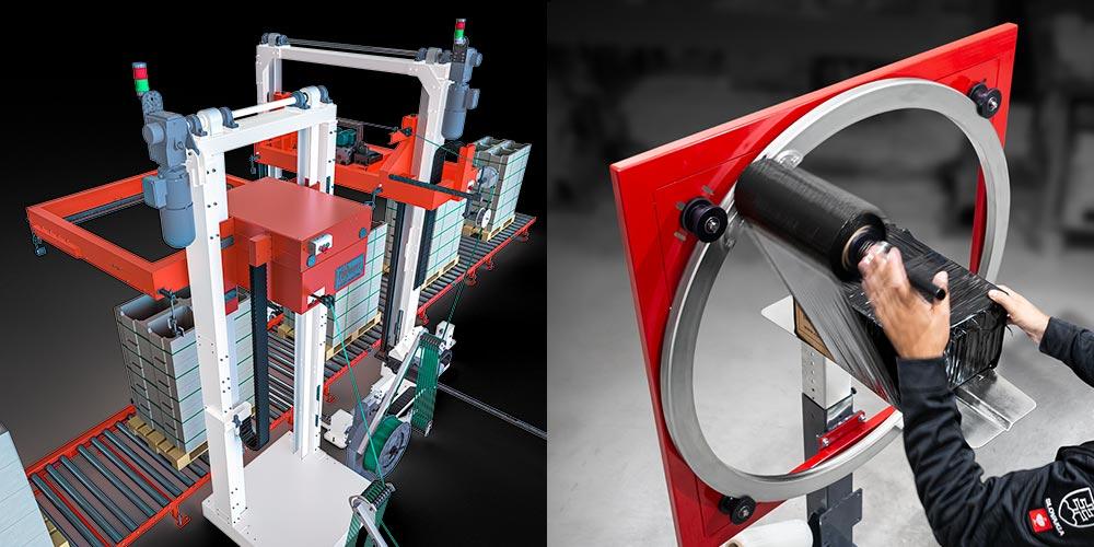FachPack 2021, 7A/222, Automatické páskovacie stroje, Baliace stroje pre balenie do strečovej fólie